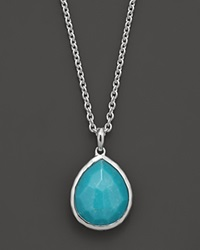 Ippolita Sterling Silver Medium Teardrop Pendant In Turquoise 16 No Color