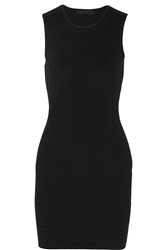 Alexander Wang Fitted Chevron Stretch Knit Mini Dress
