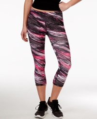 Ideology Printed Cropped Leggings Only At Macy's Molten Pink Breeze