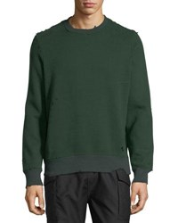 Ovadia And Sons Distressed Pullover Sweatshirt Racing Green