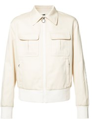 Neil Barrett Zipped Pocket Jacket Nude Neutrals