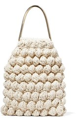 Ulla Johnson Barranco Crocheted Cotton And Lurex Blend Tote Cream