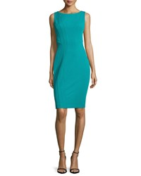 Zac Posen Vince Sleeveless Sheath Dress Teal Blue