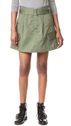Marc Jacobs Belted Cargo Pocket Skirt Military Green