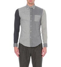 Lardini Multi Patch Tonal Cotton Shirt Grey