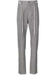 Lanvin Checked Trousers Grey
