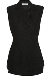Stella Mccartney Eloise Jacquard And Lace Vest Black