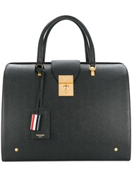 Thom Browne Mr. Bag In Black Pebble Grain