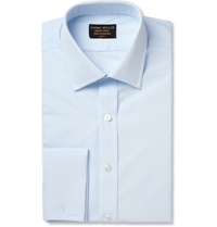 Emma Willis Blue Double Cuff Cotton Shirt