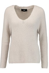 Line Sophia Ribbed Knit Sweater Light Gray