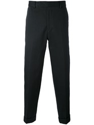 Paul Smith Slim Fit Tapered Trousers Men Cotton 32 Blue
