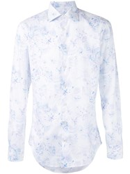 Etro Floral Embroidered Shirt White