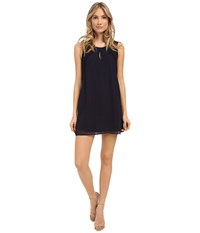 Brigitte Bailey Lace Inset Shift Dress Dark Blue Women's Dress