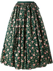 Ashish Floral Embroidered Skirt Green