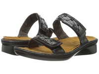 Naot Footwear Sound Black Madras Leather Metallic Road Leather Women's Sandals