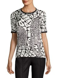 Yigal Azrouel Leopard Print Tee Jet Optic