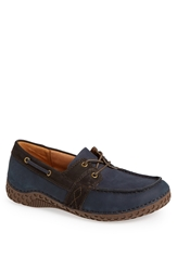 Alegria 'Franklin' Nubuck Leather Boat Shoe Men Navy