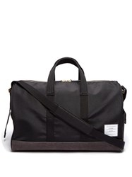 Thom Browne Technical And Suede Holdall Black