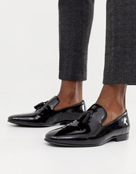 Office Imperial Tassel Loafers In Black Patent
