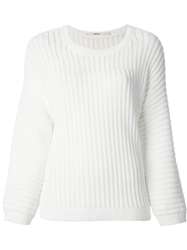 J Brand Thick Ribbed Sweater White