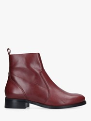 Carvela Sail Block Heel Ankle Boots Red Wine