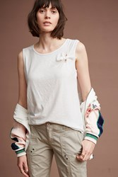 Anthropologie Knotted Tank Top White