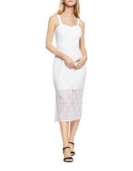 Bcbgeneration Floral Lace Dress Optic White