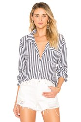 By The Way Kelly Striped Button Up Navy