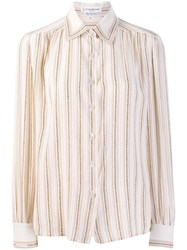 Louis Feraud Vintage 1970'S Striped Shirt Neutrals