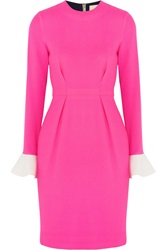 Roksanda Ilincic Izumi Color Block Wool Crepe Dress Pink