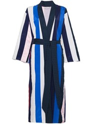 Natasha Zinko Striped Midi Robe Multicolour