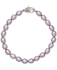 Honora Style Lilac Cultured Freshwater Pearl Bracelet In Sterling Silver 7 8Mm