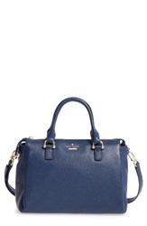 Kate Spade New York Lombard Street Bradie Leather Satchel Blue French Navy