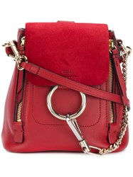 Chloe Faye Mini Backpack Red