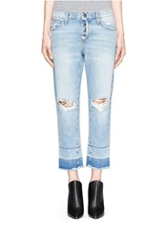 Current Elliott 'The Fling' Exposed Button Fly Jeans Blue