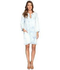 Karen Kane Acid Wash Shift Dress Denim Women's Dress Blue