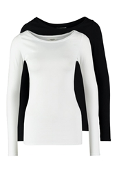 Zalando Essentials 2 Pack Long Sleeved Top Black White