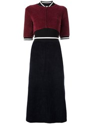 Each X Other Removeable Jacket Velvet Dress Red