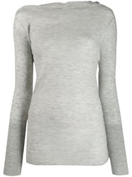 Patrizia Pepe Slim Fit Jumper Grey