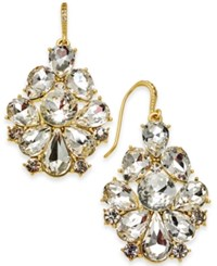 Charter Club Gold Tone Dramatic Crystal Earrings Created By Macy's