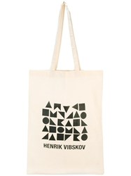 Henrik Vibskov Geometric Print Shopping Bag Nude Neutrals