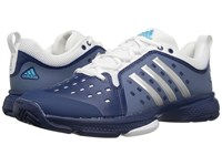 Adidas Barricade Classic Bounce Mystery Blue Silver Metallic Footwear White Men's Tennis Shoes