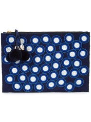 Figue Soma Polka Dot Pouch Blue