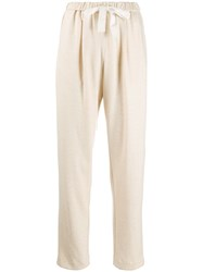 Forte Forte Tie Waist Tapered Trousers Neutrals