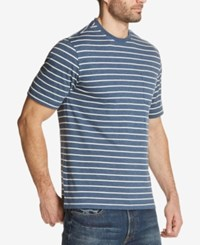 Weatherproof Vintage Men's Striped Pocket T Shirt Beige