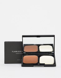 New Look Flawless Foundation Compact Brown Pattern Clear