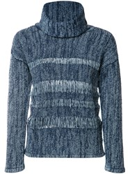Ag Jeans High Neck Jumper Blue