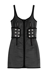 Alexander Wang Quilted Mini Dress Black