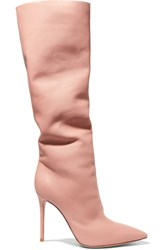 Gianvito Rossi 105 Leather Knee Boots Antique Rose Usd