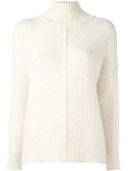 Forte Forte High Neck Jumper Nude And Neutrals